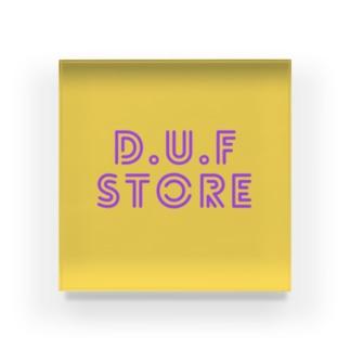 DUF BOXロゴ Acrylic Block