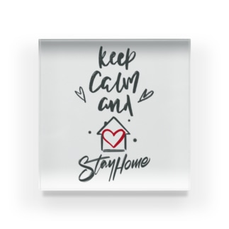 Keep Calm and Stay Home Acrylic Block
