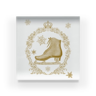 フィギュアスケート スケート靴 セピア色 Acrylic Block