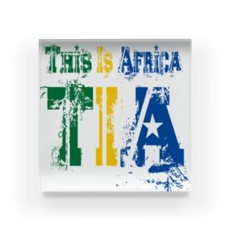 TIA (This is Africa) これがアフリカだぁ!! (カラー) Acrylic Block