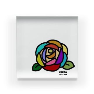 ❉ 椿 ❉ つばき Acrylic Block