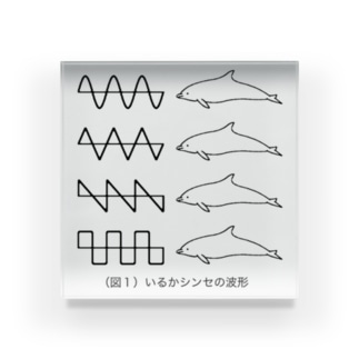 (図1)いるかシンセの波形 Acrylic Block