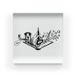 -Noir+Angelique- メモリアルイラスト柄シリーズ Acrylic Block