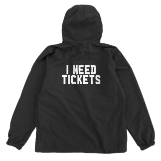 I NEED TICKETS - WHITE LOGO Anorak