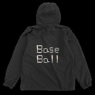 kyonophotoのバットとボールで描いた「BaseBall」 Anorakの裏面