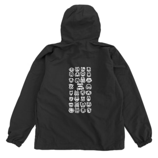 Heart nose DOGS(縦長白インク) Anorak