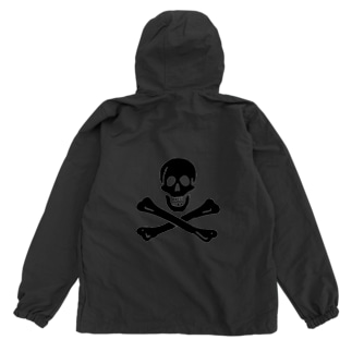海賊旗スカル-Jolly Roger サミュエル・ベラミーの海賊旗-黒ロゴ Anorak