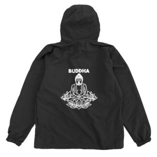 BUDDHA-仏像- 白ロゴ Anorak