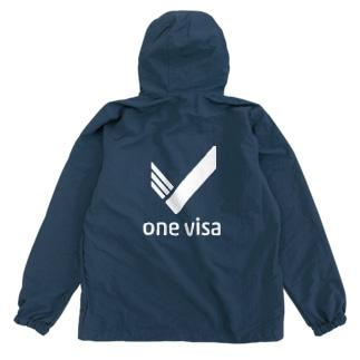 one visa White Logo Anorak