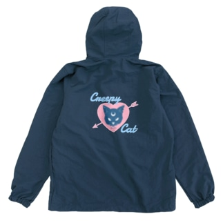 【MOON SIDE】 Creepy Cat #Pink*Blue Anorak