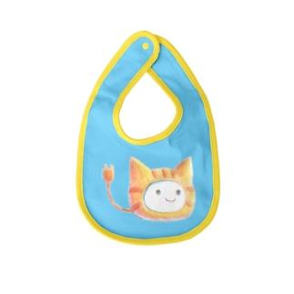 茶トラ猫着ぐるみねこさん Baby bibs