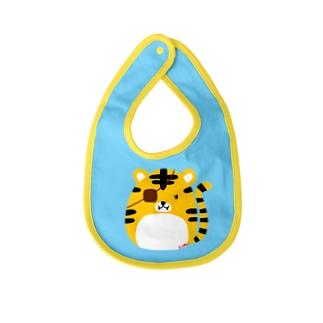 父トラに憧れる子トラ Baby bibs