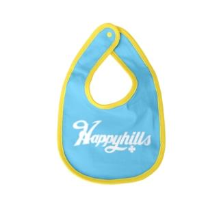 Happyhillsふくおか(白) Baby bibs
