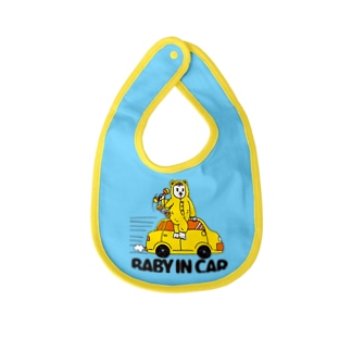 BABY IN CAR イエロー(背景なし) Baby bibs