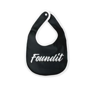 FounditのFoundit Logo (whiite) Baby bibs