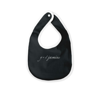 y=√jasmine [stylish] black Baby bibs
