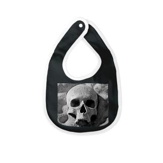 the  skull Baby bibs