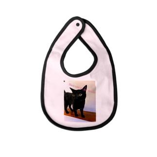 黒猫は不吉じゃない Baby bibs
