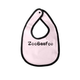 ZooBeeFoo黒ロゴ Baby bibs