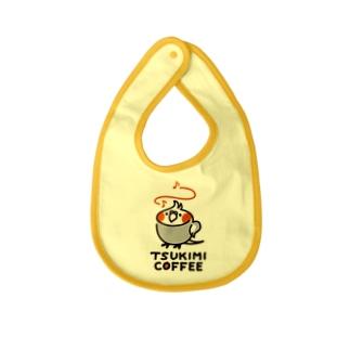 TSUKIMI COFFEE ロゴ(ごきげん) Baby bibs