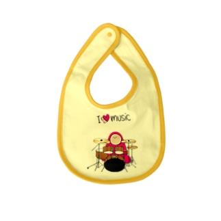 I LOVE MUSIC - アイラヴミュージック ドラムVer. Baby bibs
