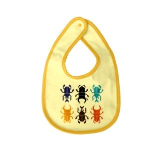カブトムシとクワガタの詰め合わせ カブクワコレクション Baby bibs