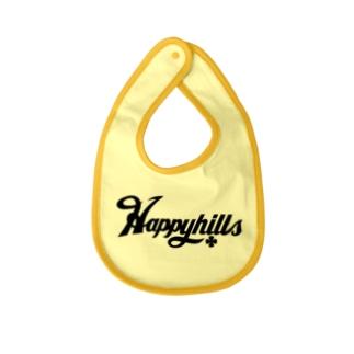 Happyhillsふくおか(黒) Baby bibs