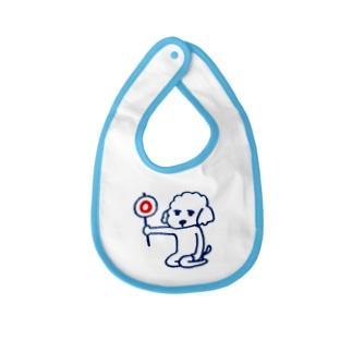 犬のシフォンくん(マル) Baby bibs