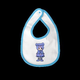 Suzuki Satomi イラストショップのベアミちゃん Baby bibs