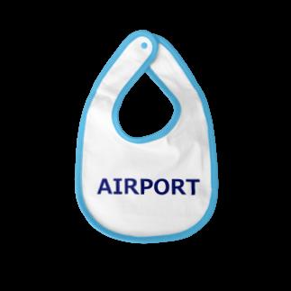 アメリカンベースのエアライングッズ AIRPORT Baby bibs