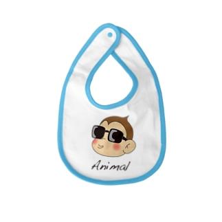 アニマル君 ファンキーベイビーピブ Baby bibs