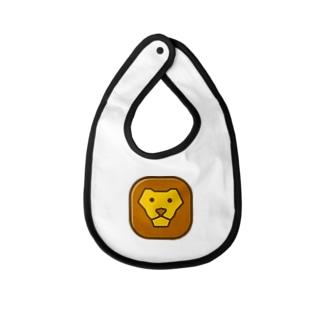 willnetのSavanna lion face Baby bibs