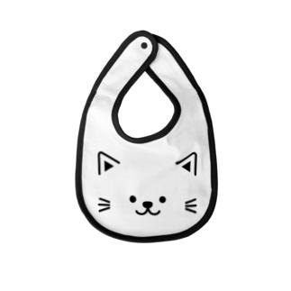 ネコのプリント Baby bibs
