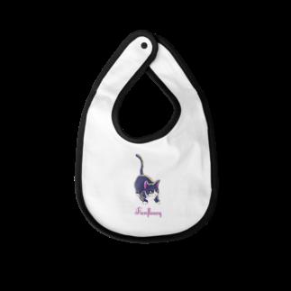 Fanfleecyのmeow meow(black cat) Baby bibs