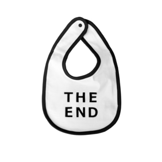 THE END (黒) Baby bibs