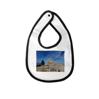 世界建築巡りのギリシャグッズ Baby bibs