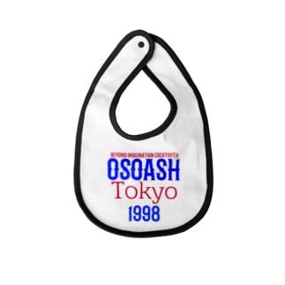 OSOASH東京BICロゴ Baby bibs