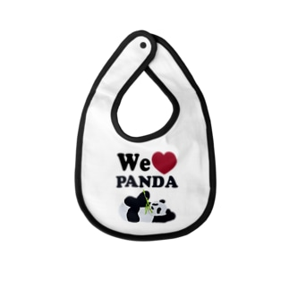 we love パンダ Baby Bib