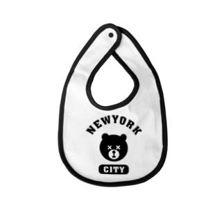 NYC BEAR ニューヨークシティベアー 熊 カレッジロゴ Baby bibs