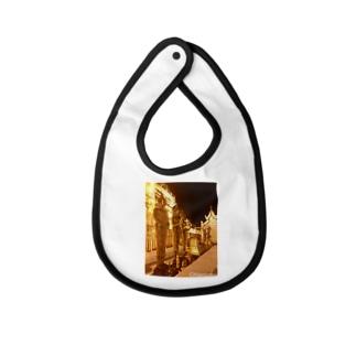 タイの黄金パゴダ Baby Bib