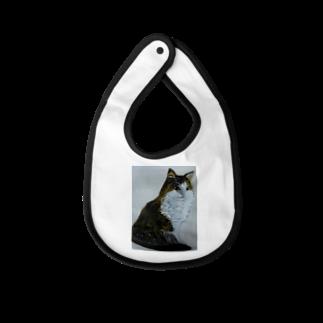 タコ夜勤@スタンプ制作致しますの猫のデザイン 油絵 Baby bibs