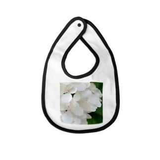 白紫陽花から落ちる雫 Baby bibs