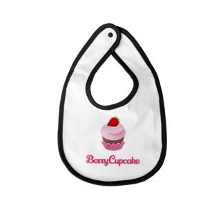 Berry Cupcake Baby bibs
