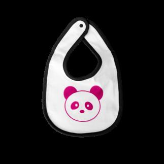 まるまるあにまるズ(仮)のピンクパンダちゃん Baby bibs
