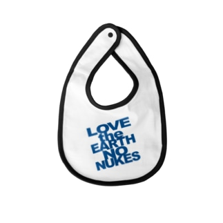 Baby's bib LOVE the EARTH NO NUKES Baby bibs