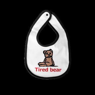 アメリカンベースのTired bear 疲れたぬいぐるみ Baby bibs