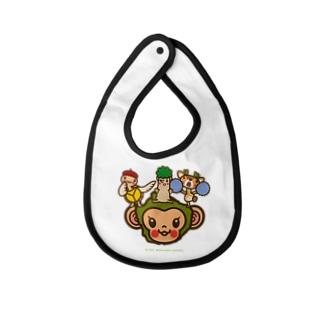 屋久島弁シリーズ 2:ヤクザル・ヤクシカ・ウミガメ・縄文杉キャラ Baby bibs
