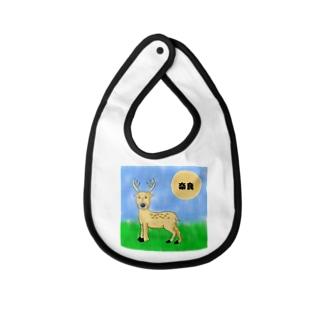 奈良のしかくん<鹿せんべいあげたいプロジェクト> Baby bibs