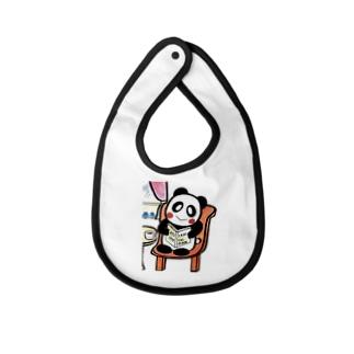 ル.ボヌールのstay home パンダちゃん Baby bibs