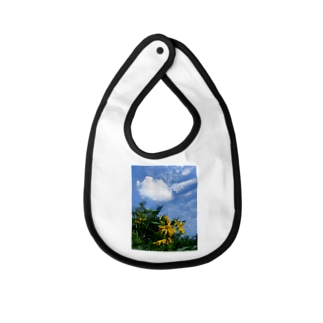 菊芋と空と雲 DATA_P_134 sky cloud Baby bibs